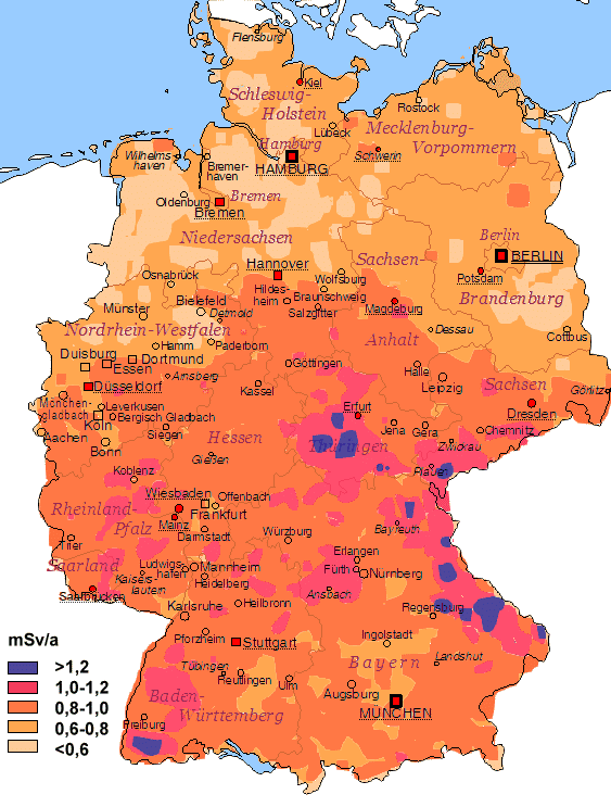 European tribune question on background radiation for location dependence check this map of germany gumiabroncs Choice Image
