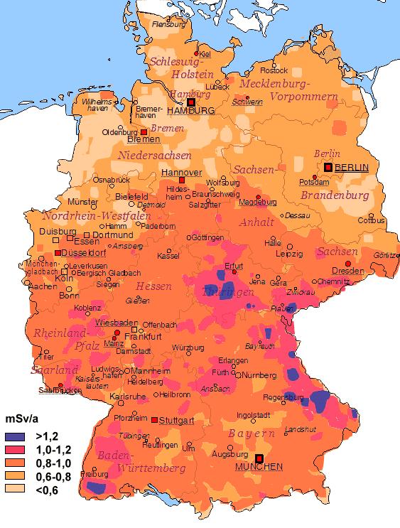 Verteilung der Strahlenexposition in Deutschland