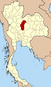 Map of Thailand highlighting Phetchabun Province}