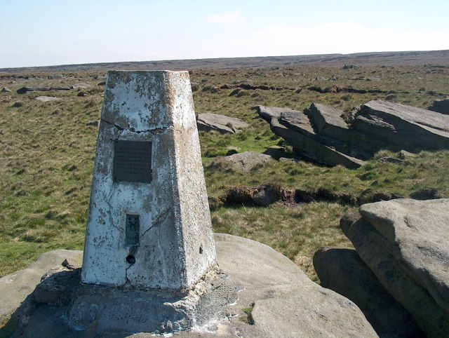 The trig point on Broadstone Hill - geograph.org.uk - 1604817