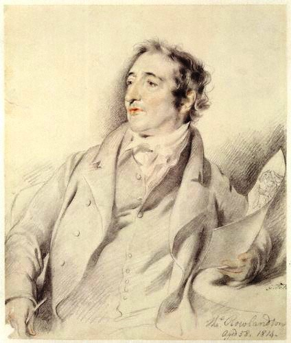 Thomas Rowlandson, pencil sketch by [[George Henry Harlow]], 1814