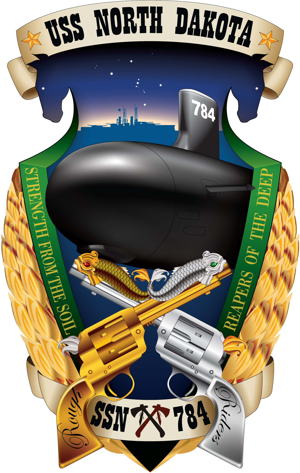 File:USS North Dakota (SSN-784) crest 2013.png