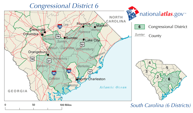 file united states house of representatives south carolina district 6 map png