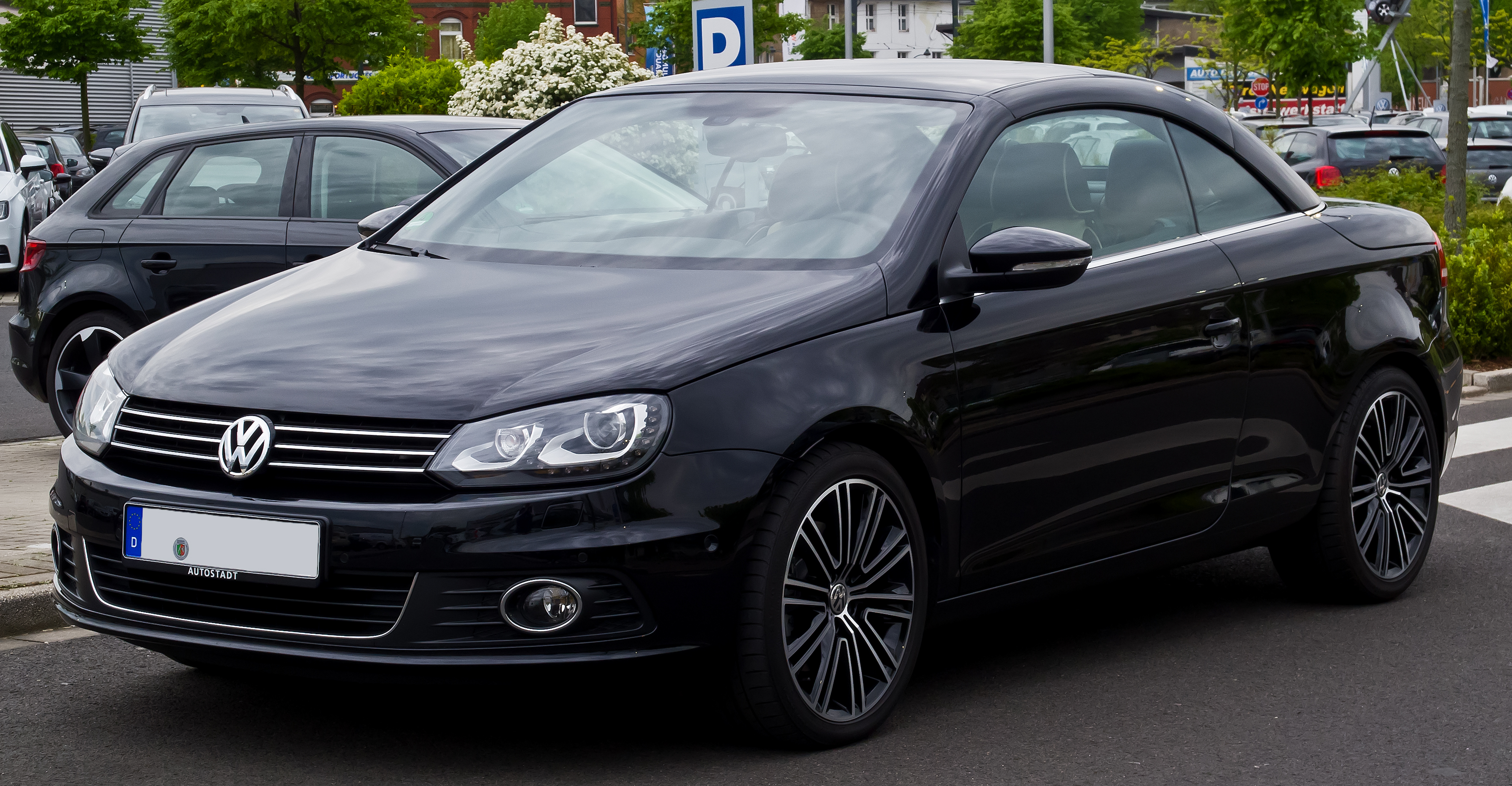 file vw eos 2 0 tsi exclusive facelift frontansicht 17 april 2014 d. Black Bedroom Furniture Sets. Home Design Ideas