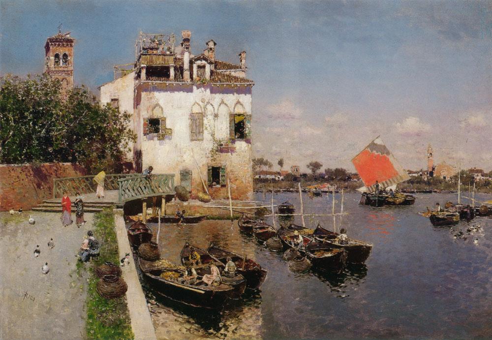 Венецианский Рыбак С Далеким Видом На Сан-Марко Venice.jpg