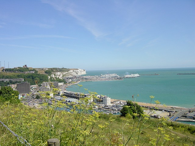 View across the Marinas from Western Heights, Dover - geograph.org.uk - 2756
