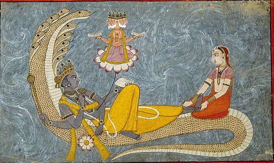 brahma, vishnu, lakshmi, shesha naga