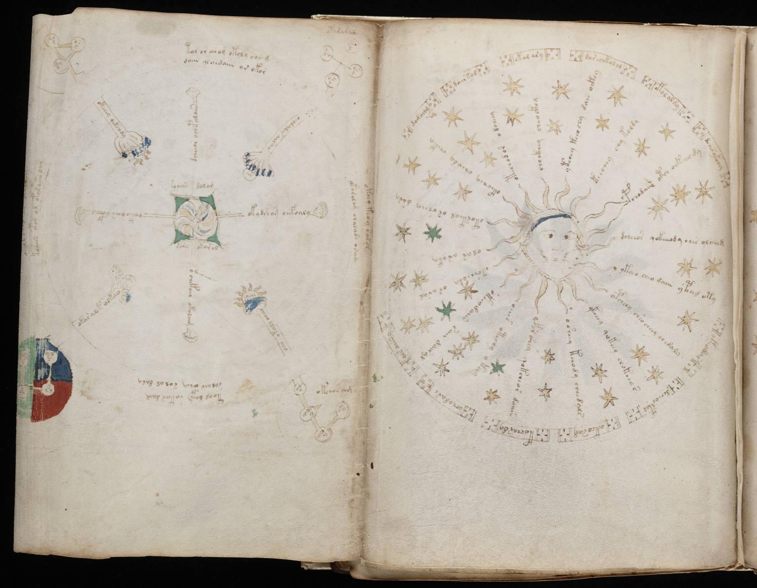Voynich Manuscript %28122%29 ヴォイニッチ手稿(写本) どの言語にも属さない謎の文字!