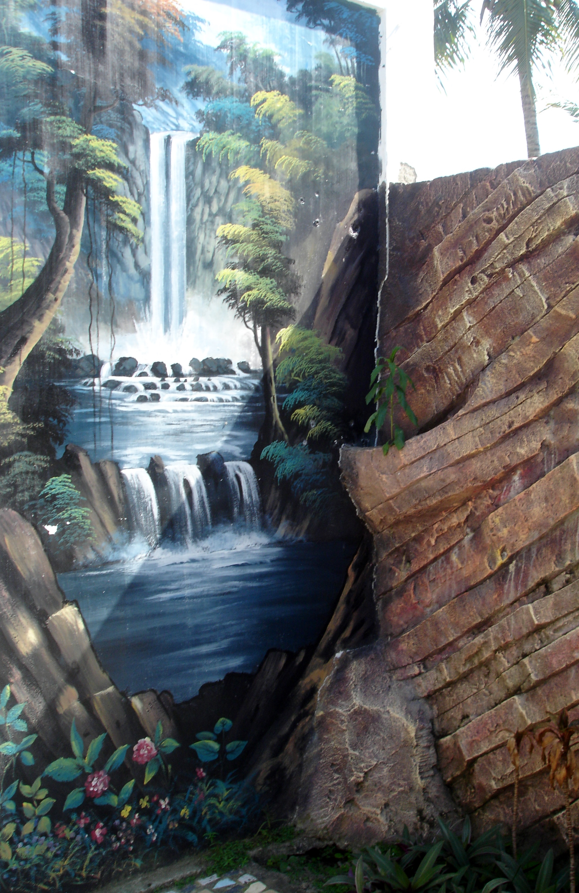 waterfall painting on wall murals pinterest waterfall painting on wall