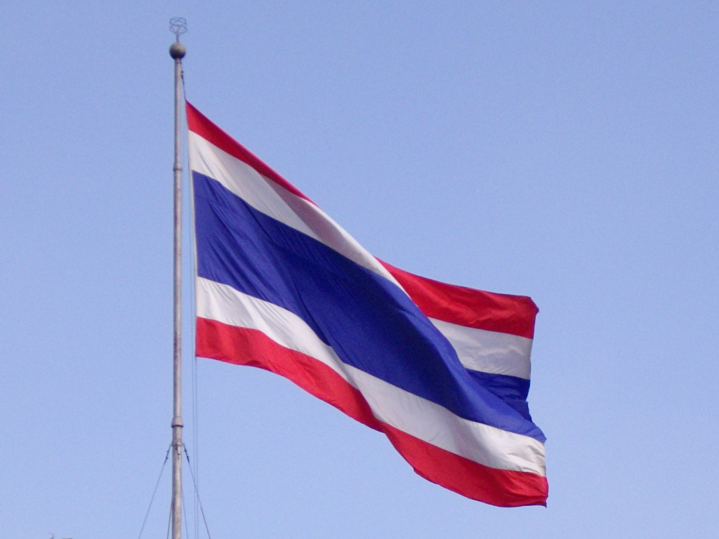 Image result for waving Thailand flag