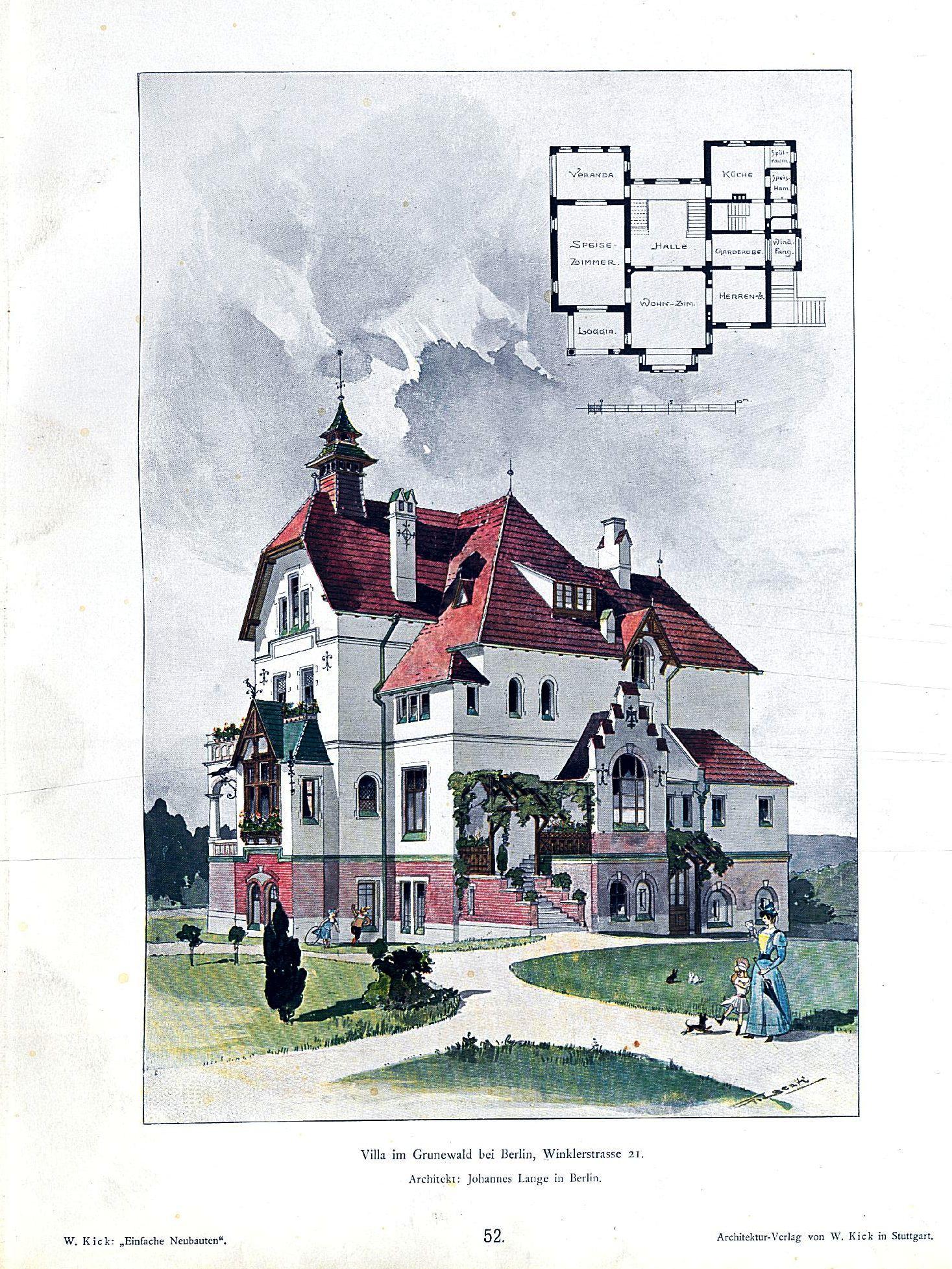 Architekt In Berlin file wilhelm kick einfache neubauten stuttgart 1890 villa im
