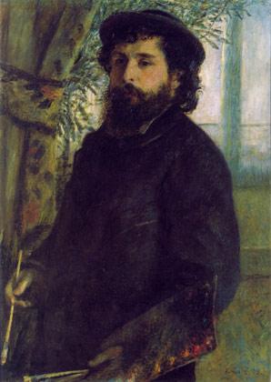 (Огюст Ренуар). Портрет Клода Моне. 1875.