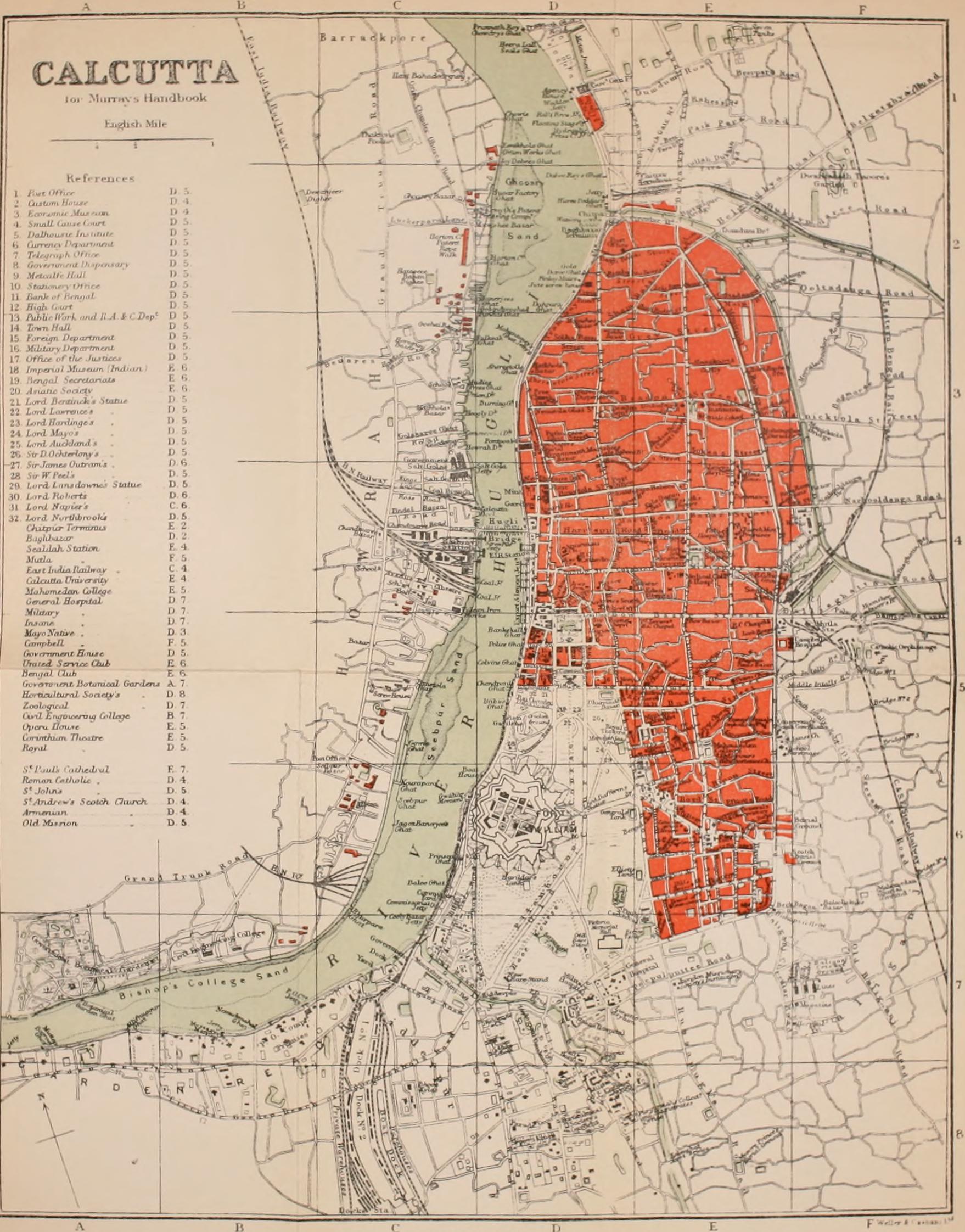 File:1911 Map of Kolkata West Bengal India.jpg - Wikimedia Commons on