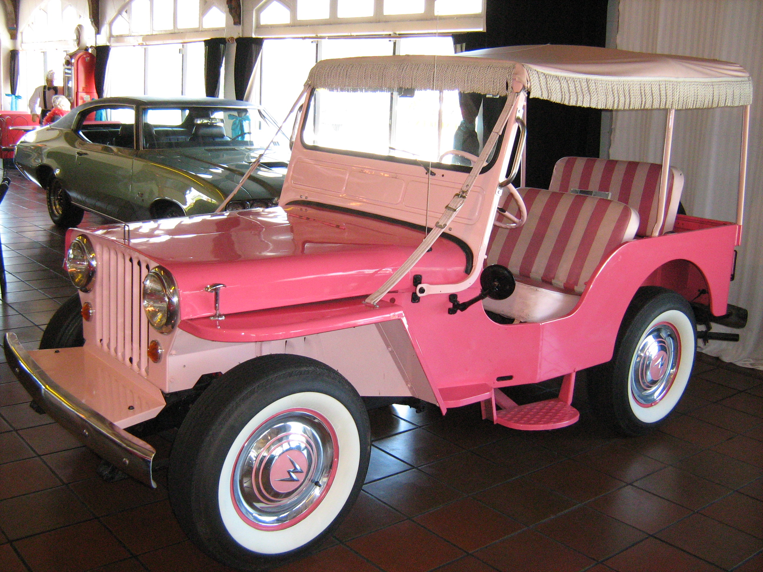 1965 Willys_Jeep_Gala_Surrey_pink jeep dj wikipedia  at fashall.co