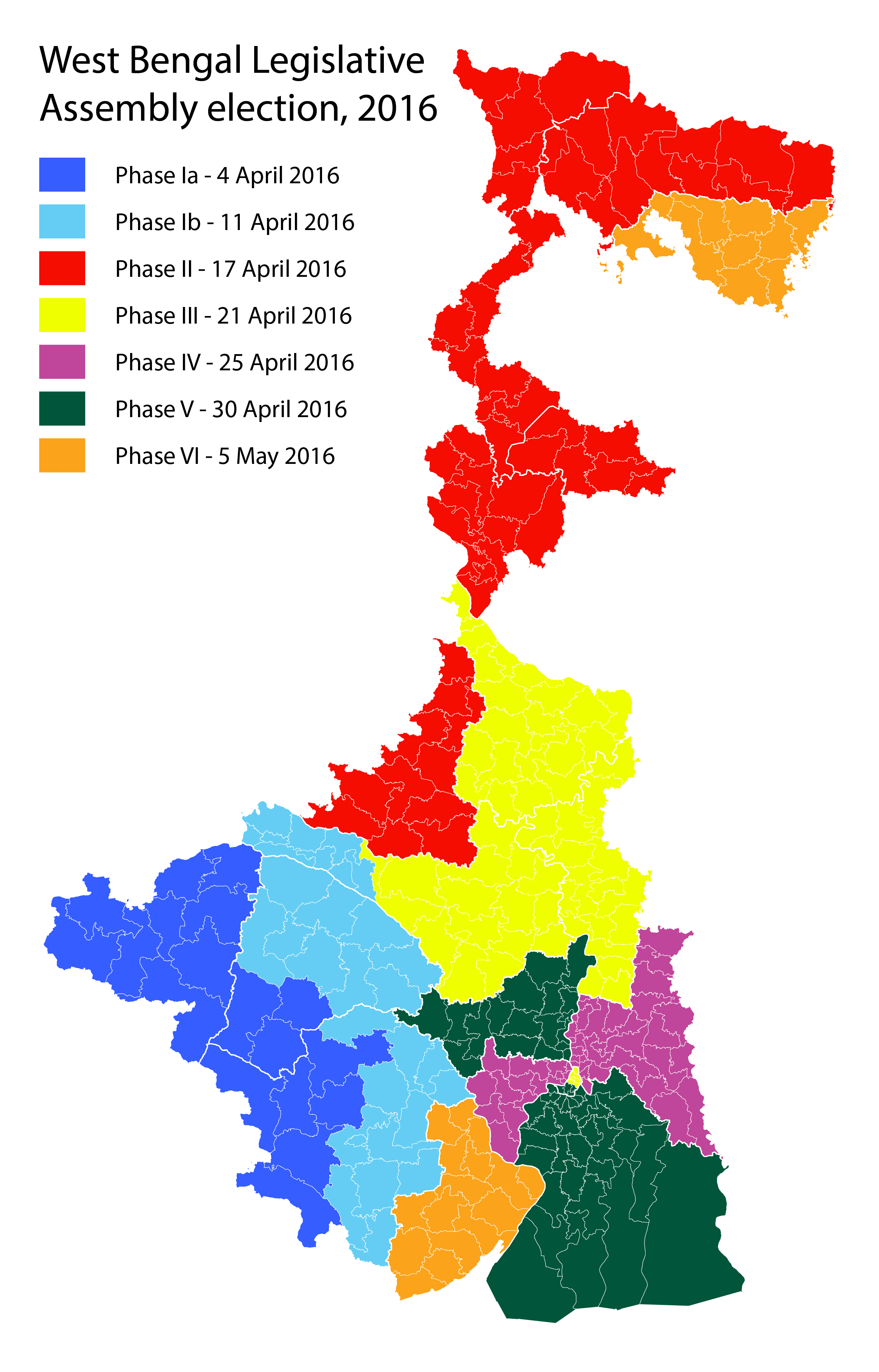 2016 West Bengal State assembly polling dates.png