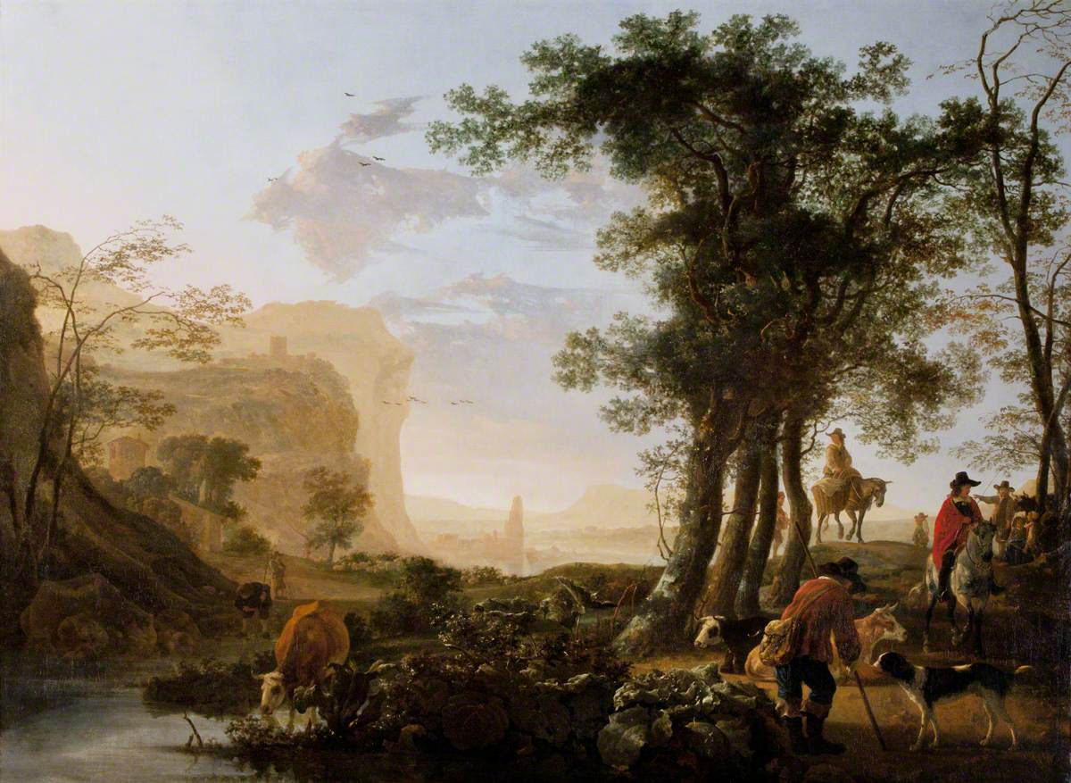 Landscape in the Rhine Valley