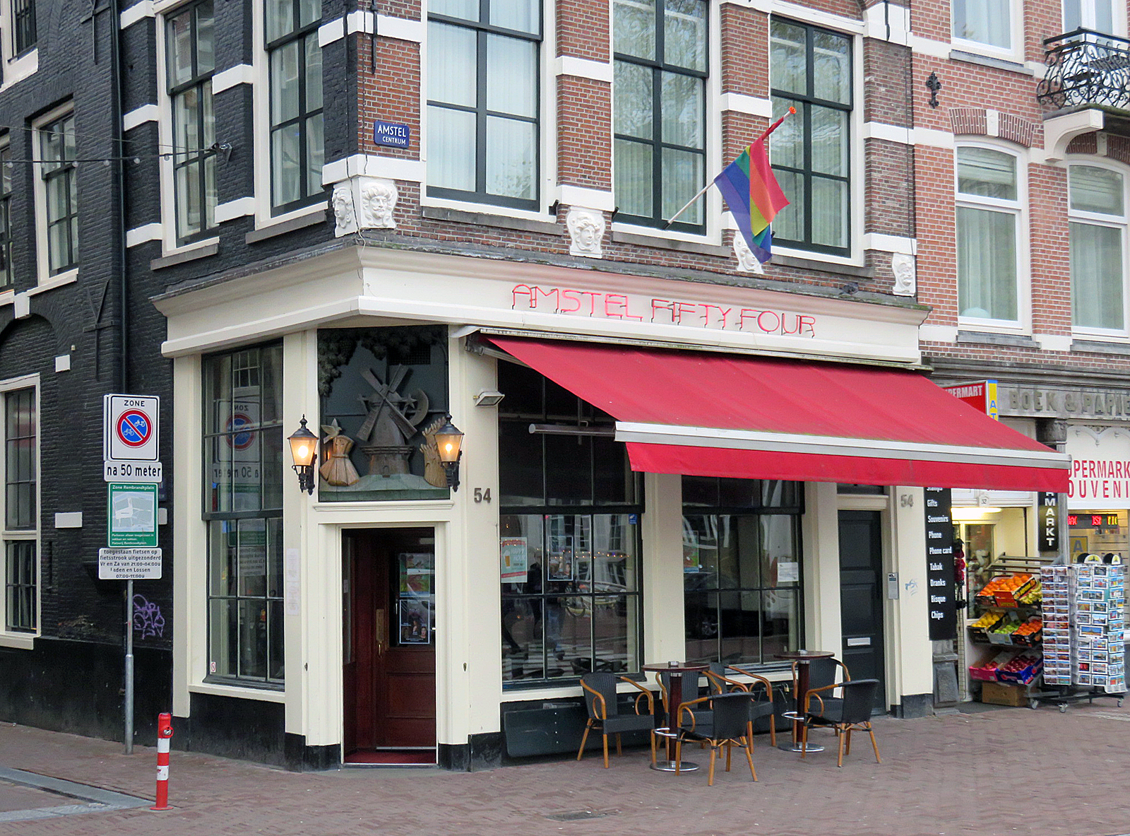 I, the copyright holder of this work, hereby publish it under the following license: English Gay bar Amstel Fifty Four, Amstel 54 in Amsterdam