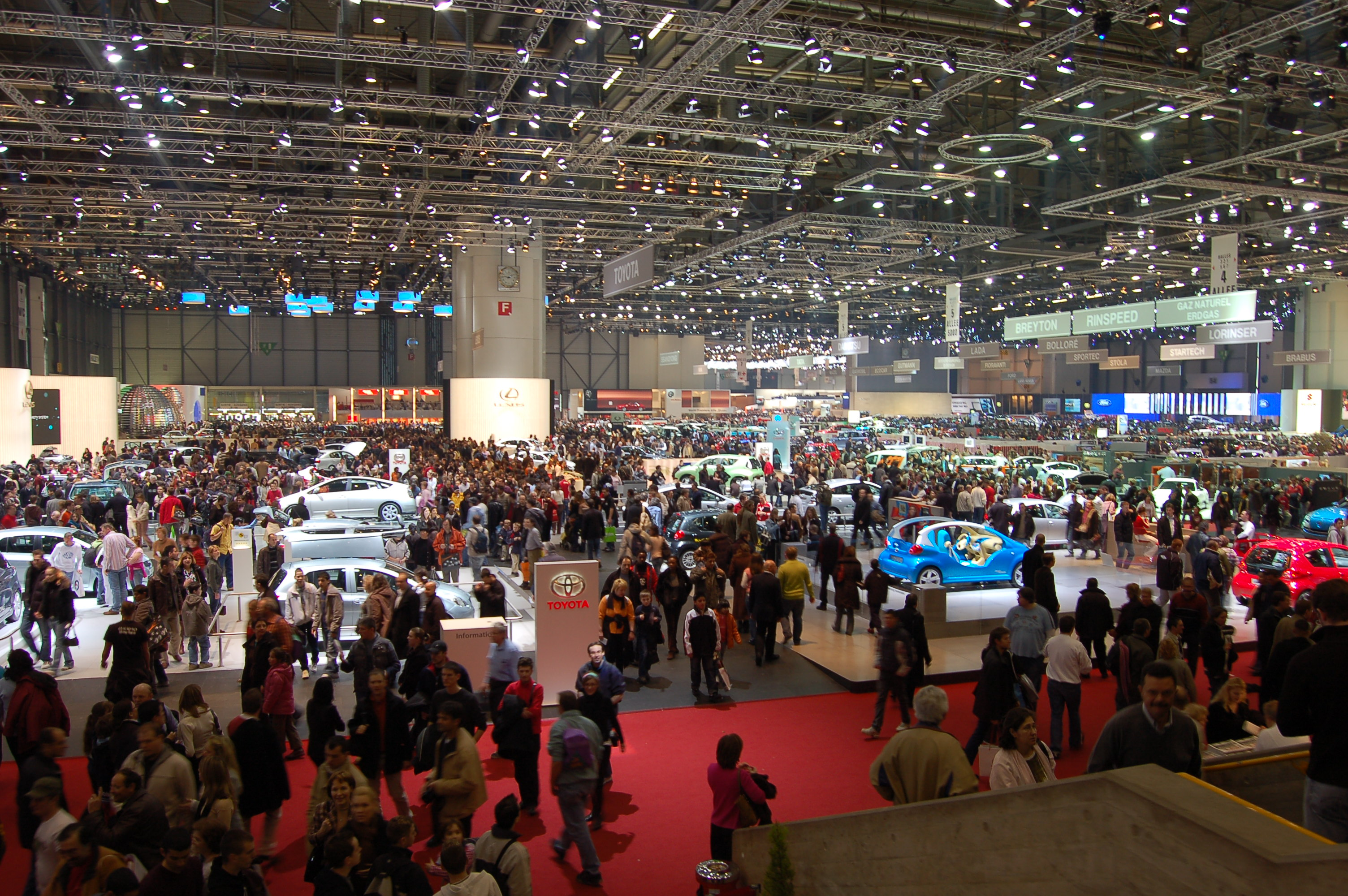 Salon international de l 39 automobile de gen ve wikiwand for Adresse salon de l auto geneve