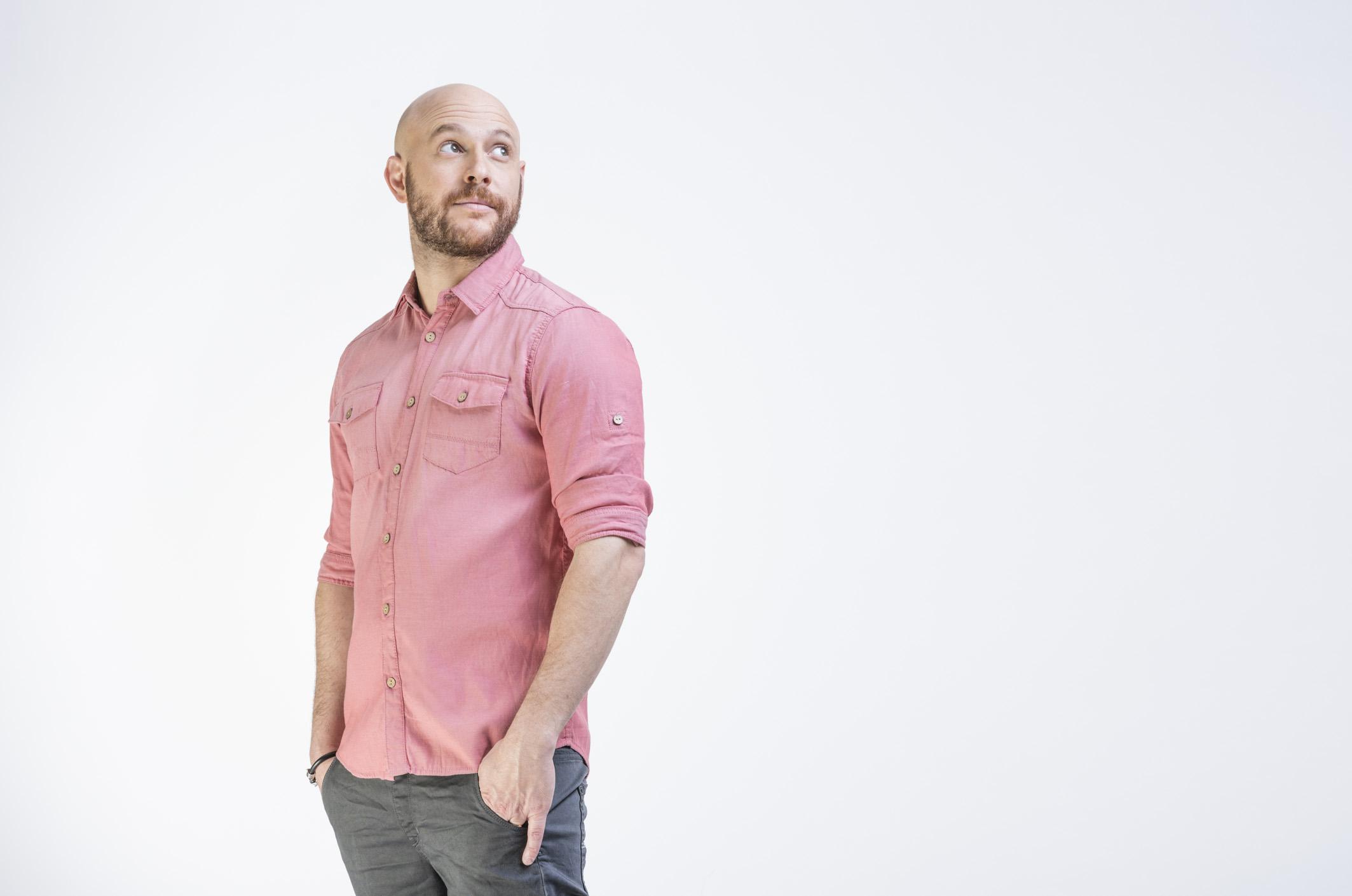 Man in Pink Shirt