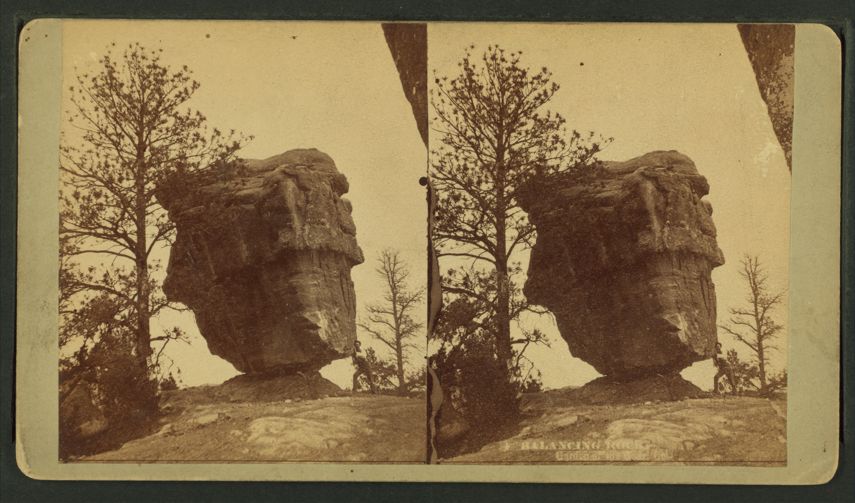File Balancing Rock Garden Of The Gods Colorado From Robert N Dennis Collection Of