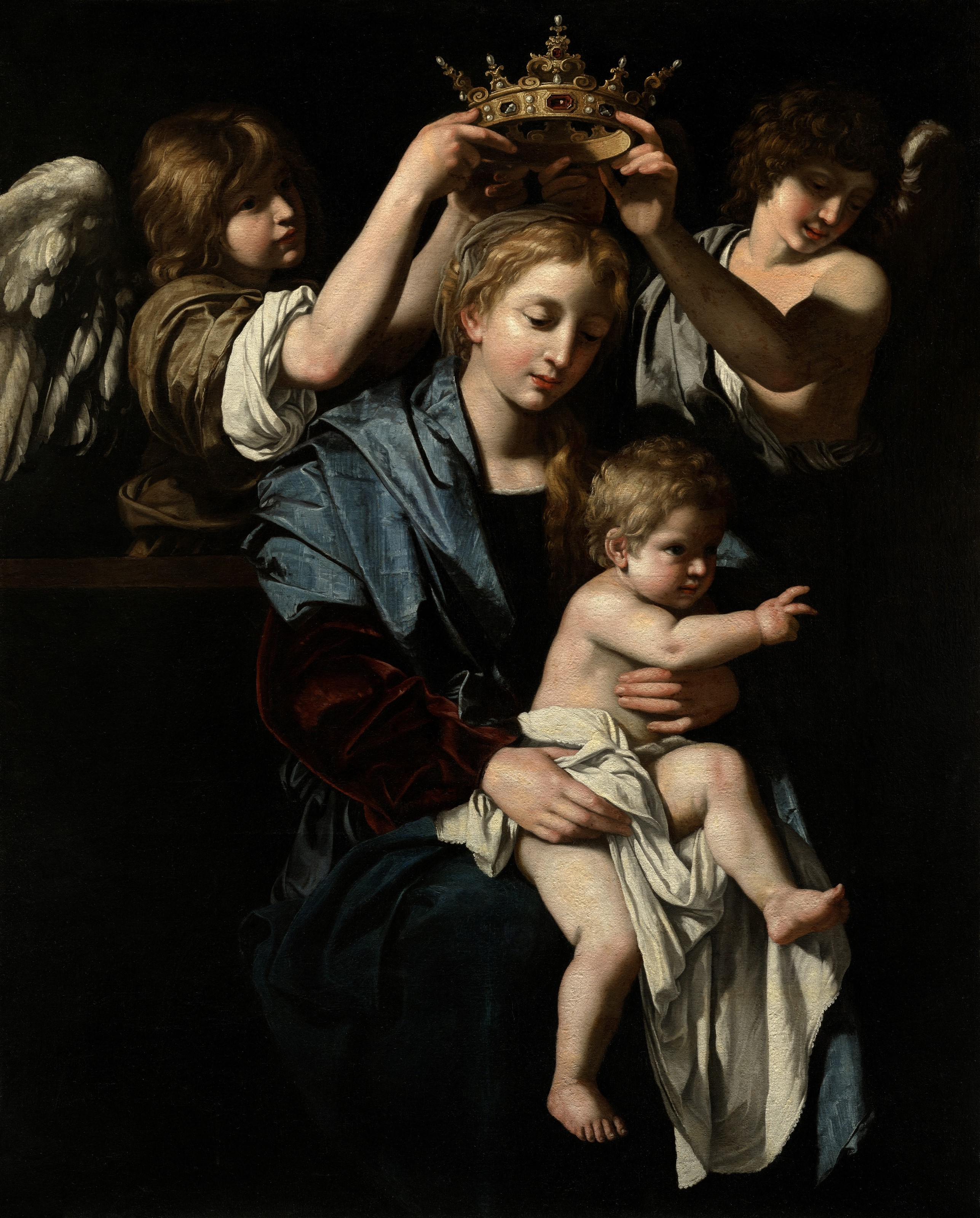 Bartolomeo Cavarozzi - Virgin and Child with Angels (c.1620)