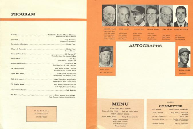 Dinner Program File:baseball Dinner Program