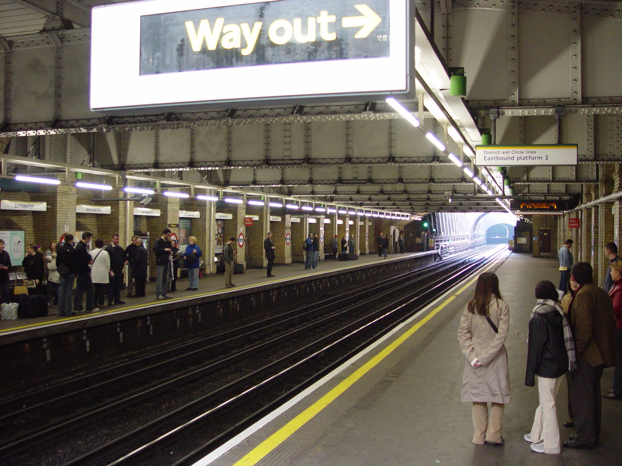 Bayswater tube station for The bayswater