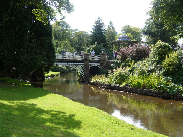 Bridge and Bandstand - geograph.org.uk - 536689