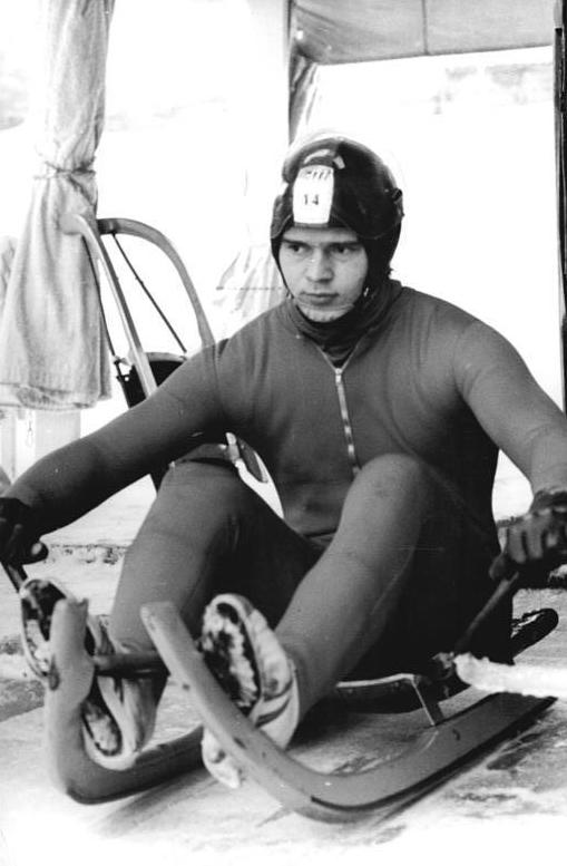 Günther at the 1980 Winter Olympics in Lake Placid.