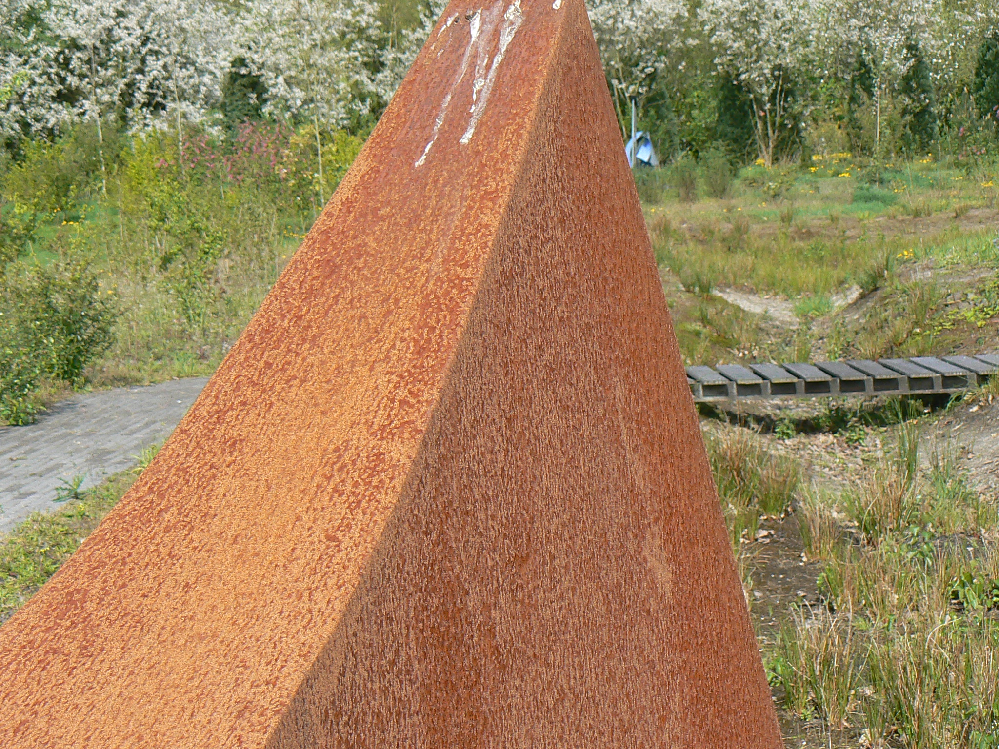 corten steel outline