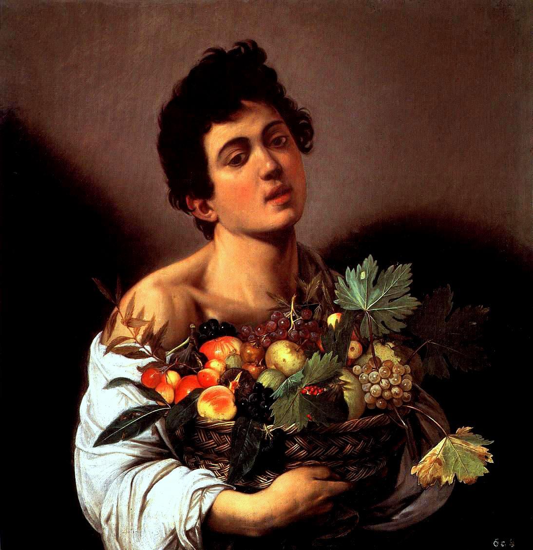Fanciullo con canestro di frutta - Wikipedia