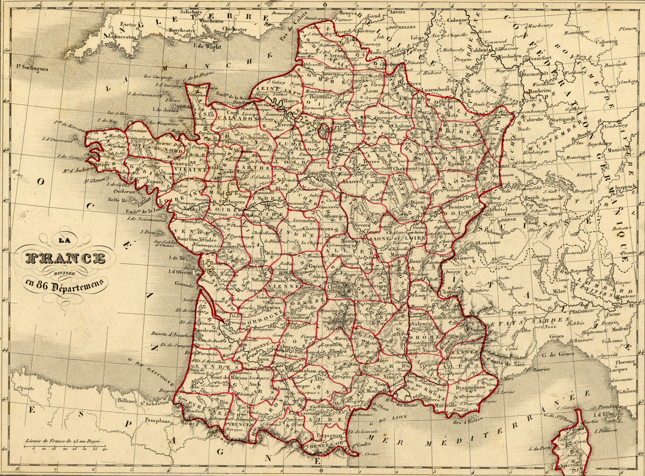 Carte Departement France