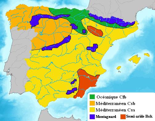 Carte climatique de l'Espagne.png