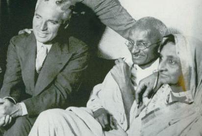 Чаплин и Ганди, Лондон, 1931 год