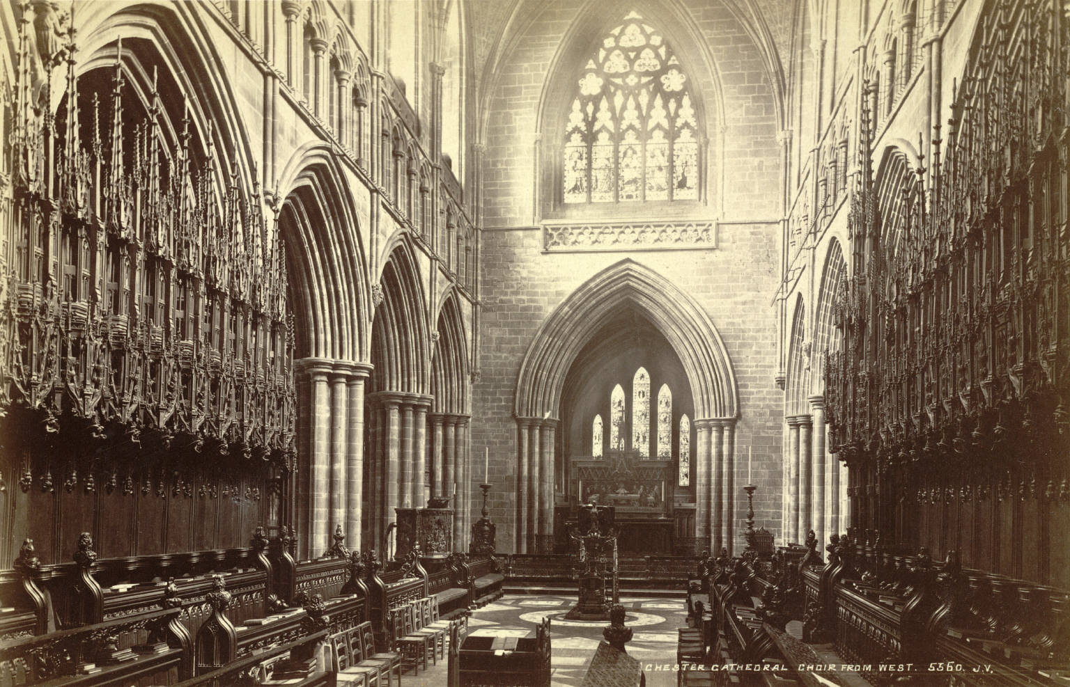 File Chester Cathedral Choir 19th Century Jpg Wikimedia