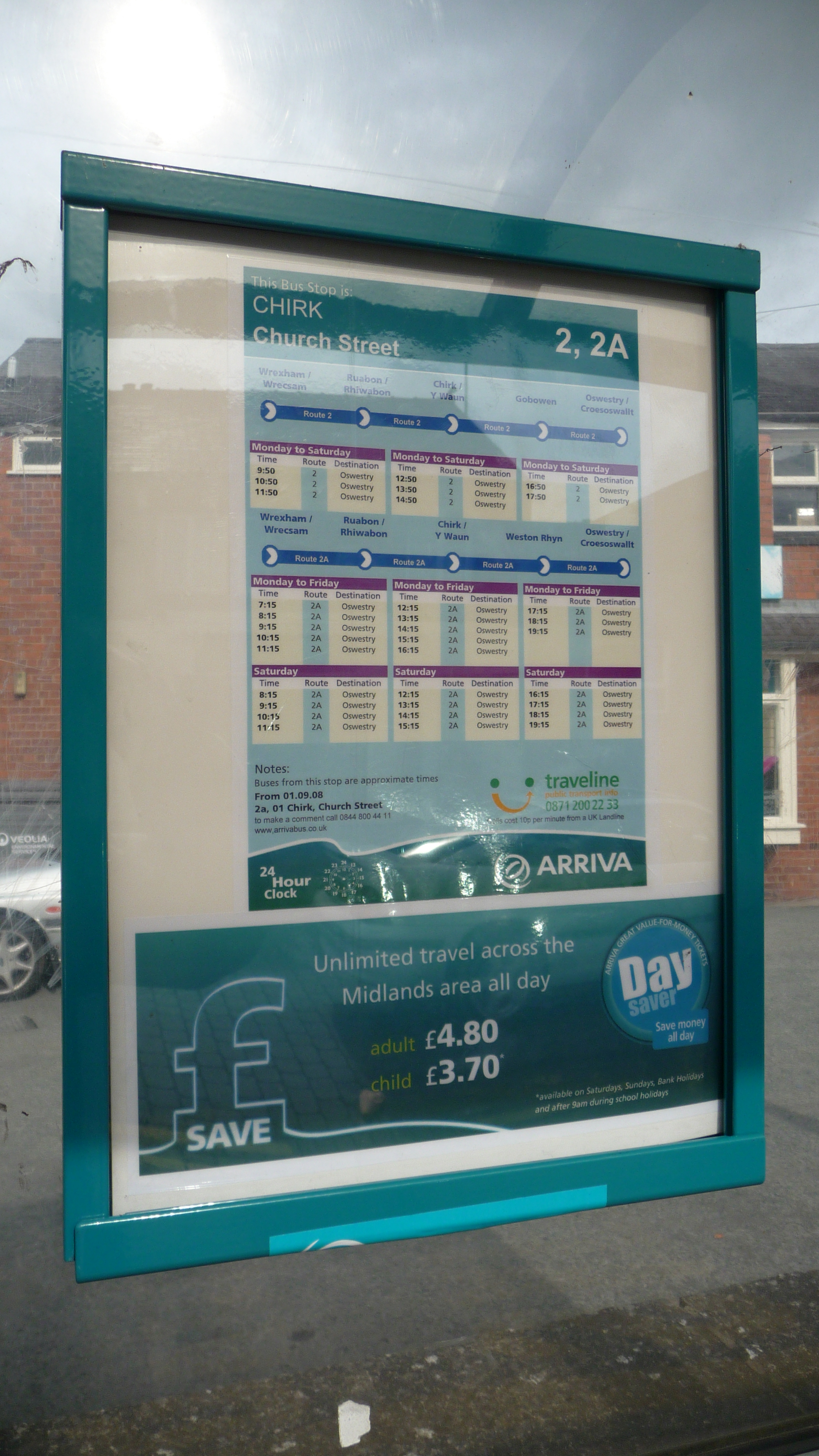 File Chirk Church Street Bus Stop Timetable Jpg