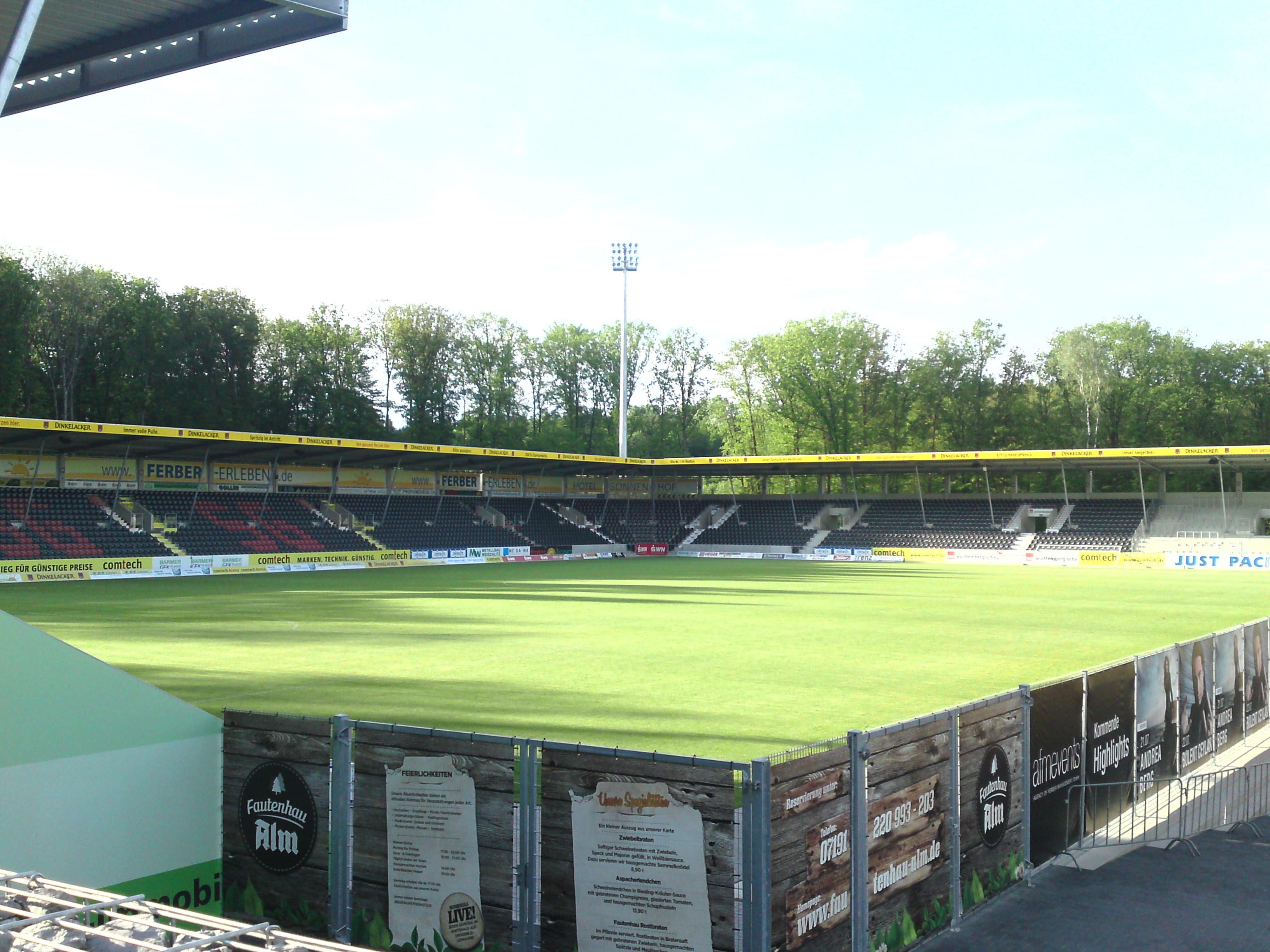 Das Stadion im Mai 2012