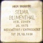 Cuxhaven Stolperstein Selma Blumenthal.jpg