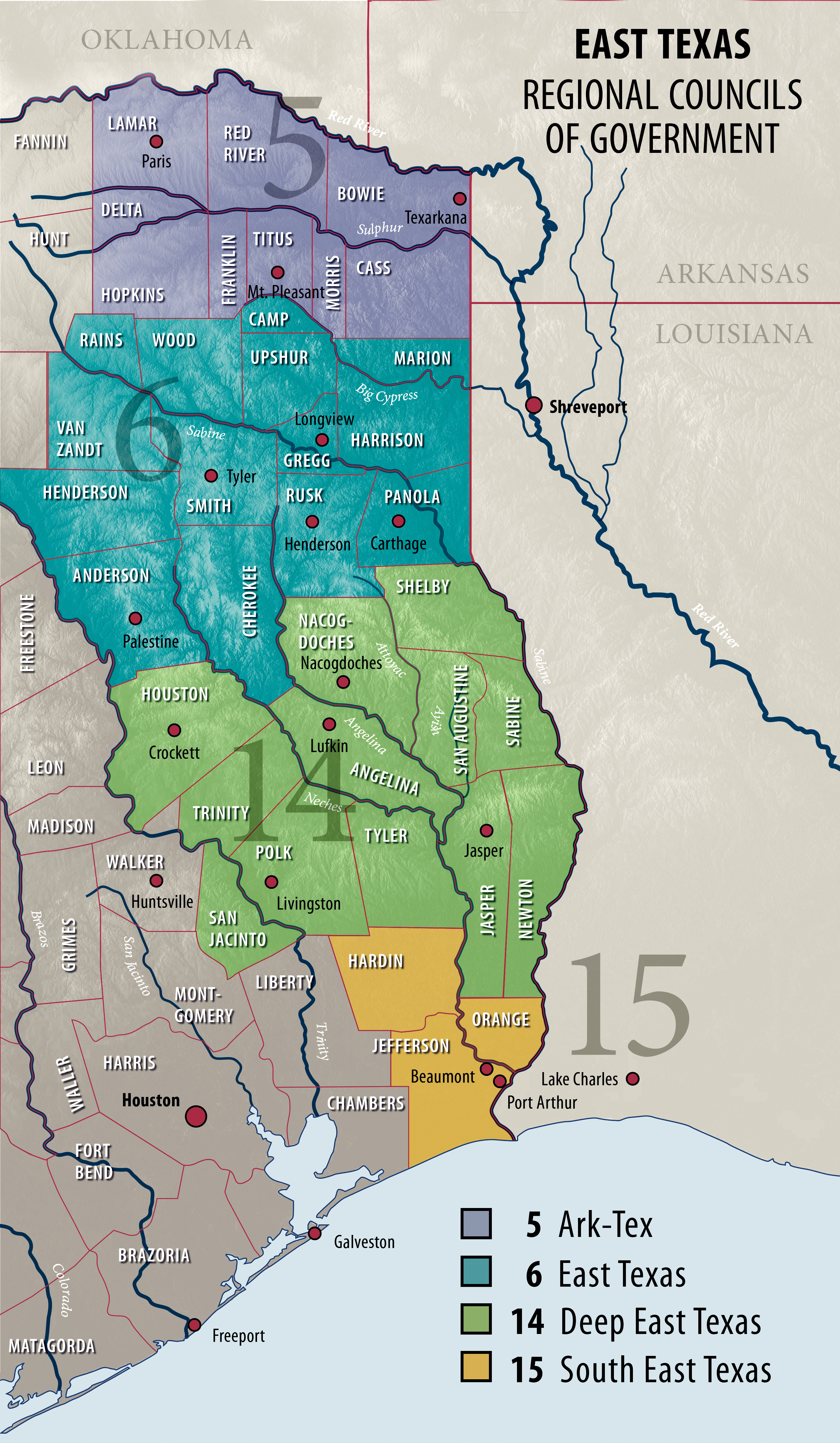 East Texas Region Map Business Dailynewsandmore Com