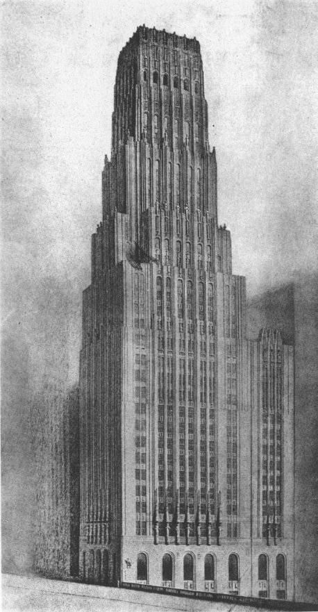 Eliel Saarinen's Tribune Tower design - Wikipedia