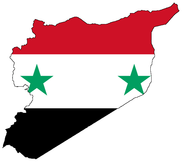 Syria Map World. world white background
