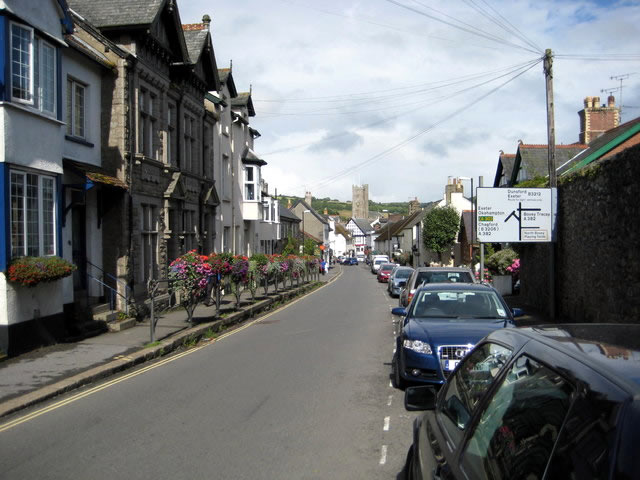 An image of Moretonhampstead, a quaint town on Dartmoor.