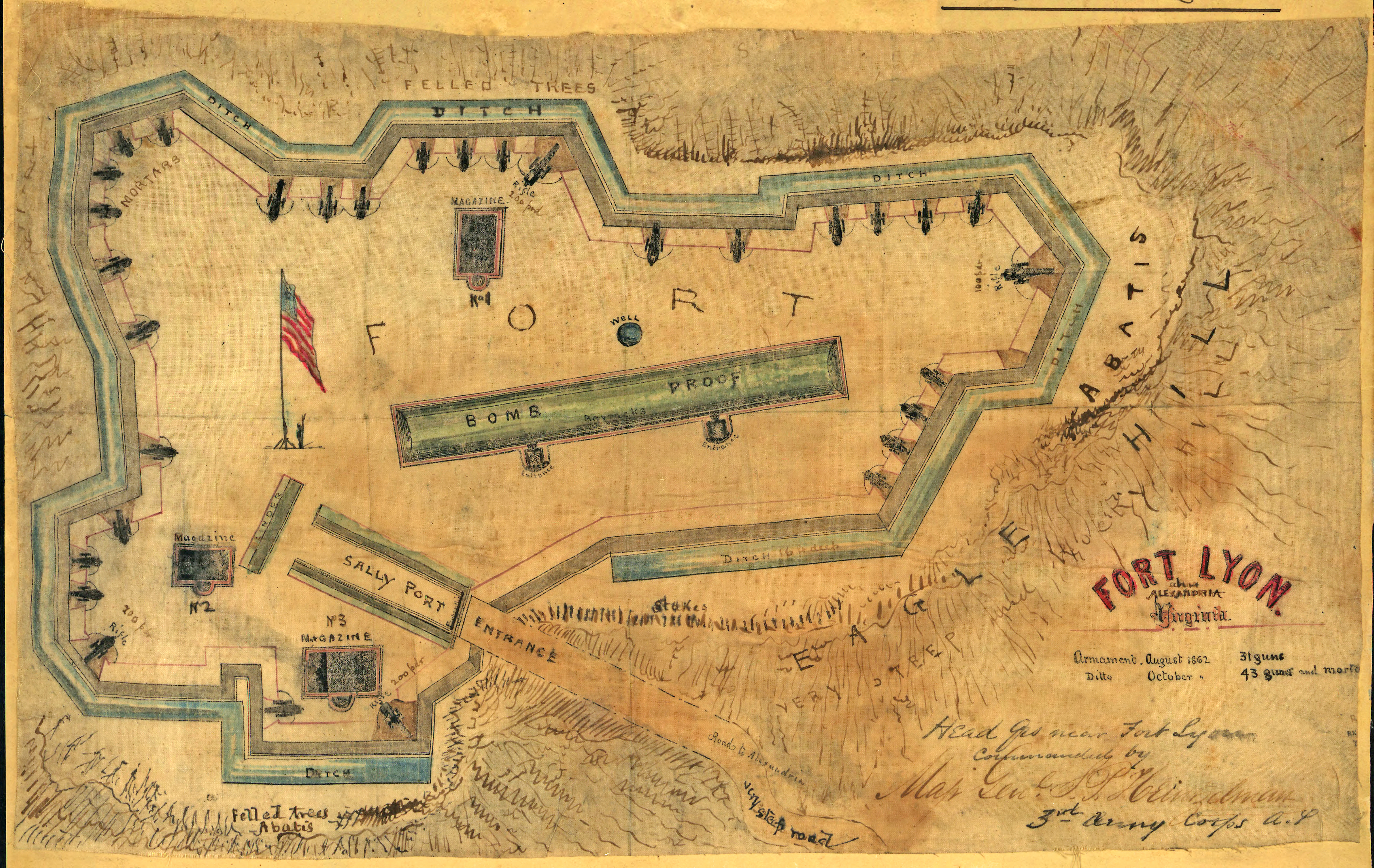 Fort Lyon Diagram