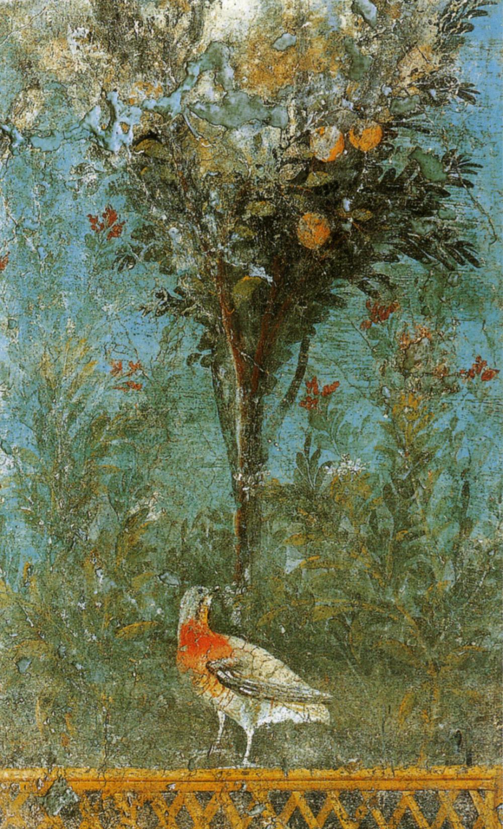 Frammento di pittura di giardino dall'area vesuviana (20-40 dc.).jpg