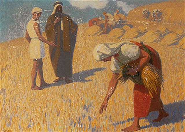 Weizenernte mit Ruth