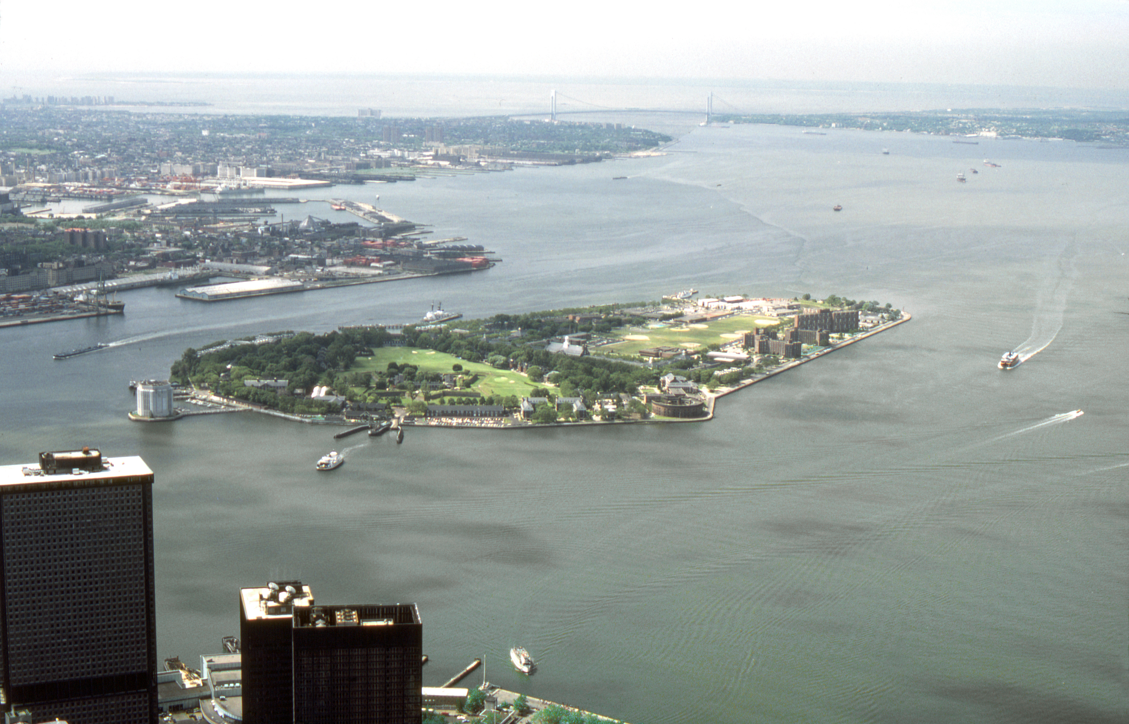 Governor's Island view from WTC