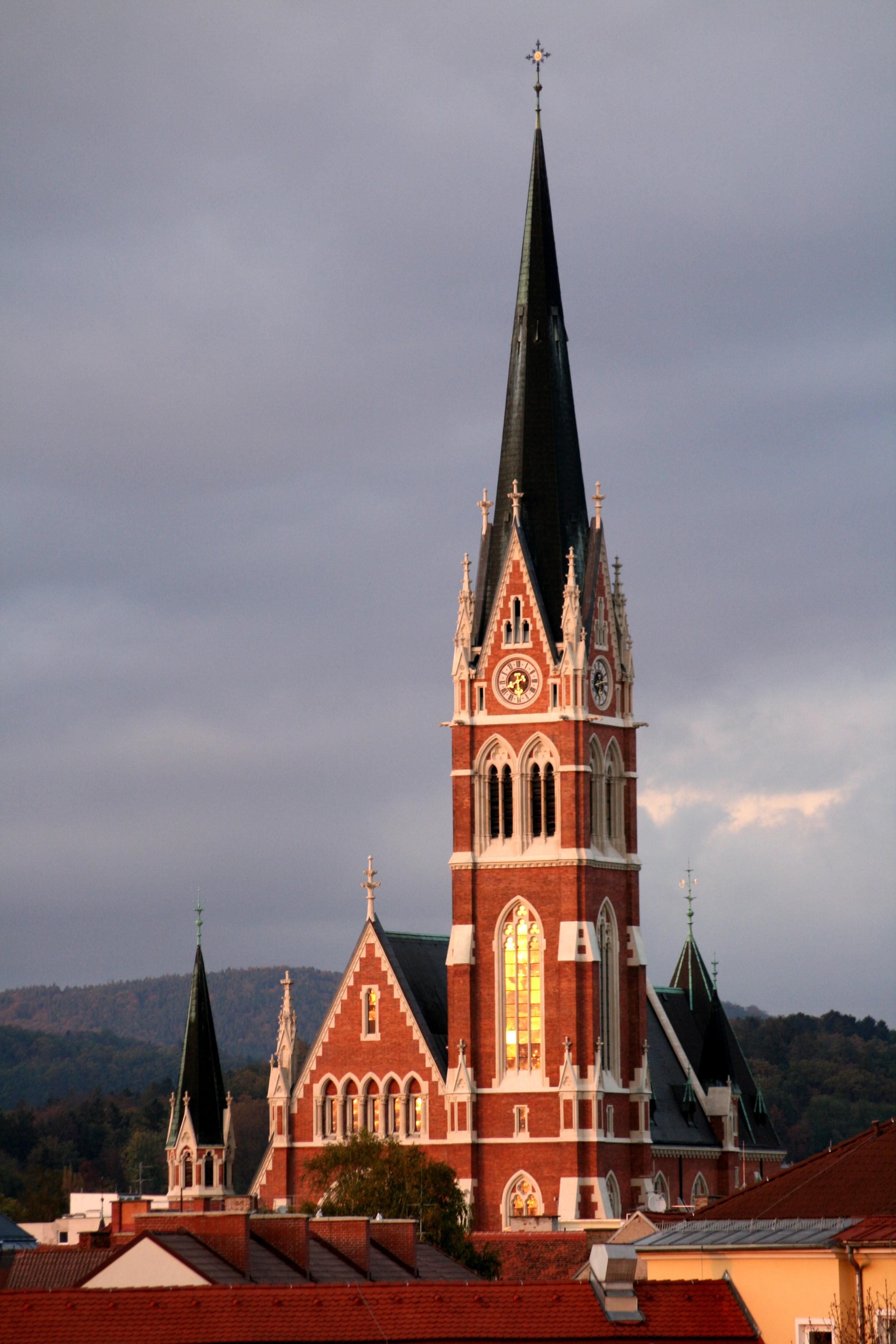 the herz jesu Kirche in Graz