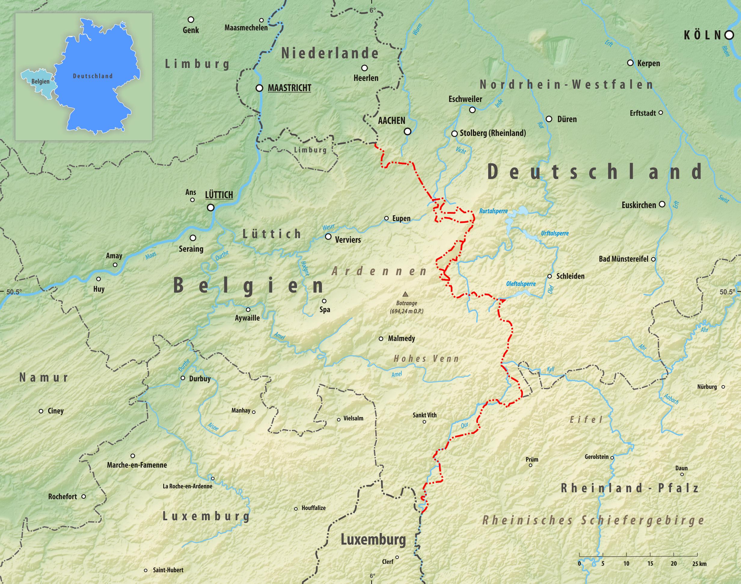 landkarte belgien deutschland Grenze zwischen Belgien und Deutschland – Wikipedia