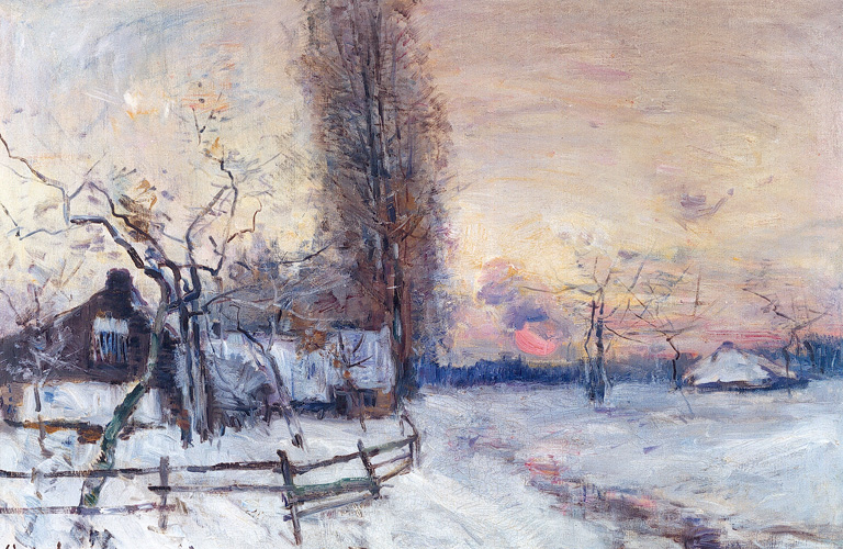 File:Guillaume Vogels - Coucher de soleil sur la neige.jpg