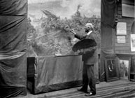 Howard Pyle at work.